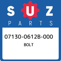 07130-0612B-000 Suzuki Bolt 071300612B000, New Genuine OEM Part