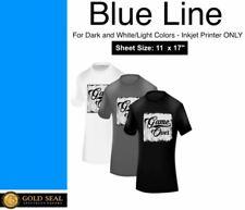 Blue Line Dark Iron On Heat Transfer Paper For Inkjet 11 X 17 10 Sheets
