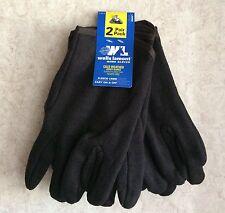 Wells Lamont Men's Gloves Fleece Lined Work 2 Pair Pack New Size L Jersey Black