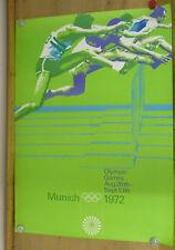A0 - ORIGINAL Plakat - Olympische Spiele 1972 / Motiv Hürden