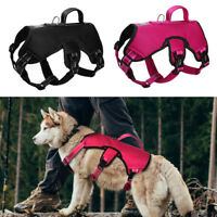 Medium Large Dog Hiking Harness Vest for Big Dogs Outdoor Climbing Traveling