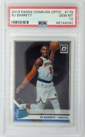 2019-20 Panini Optic Rated Rookie RJ Barrett RC #178, Knicks, Graded PSA 10