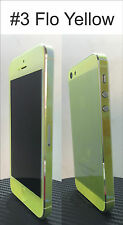 For iPhone 5 Transparent Colour Change Vinyl Sticker Free Extra Mix Edge Set