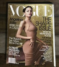 APRIL 2002 VOGUE MAGAZINE ANGELINA JOLIE, THE SHAPE ISSUE