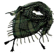 Women Men Military Shemagh Arab Tactical Plaid Checked KeffIyeh Neck Scarf Wrap