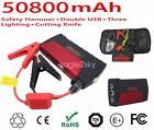 12V Portable Mini Multi-Function 50800mAh Booster Power Battery Car Jump Starter