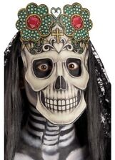 Adults Day Of The Dead Mask Fancy Dress Costume Accessory Mexican Sugar Skull