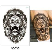 High Quality 20cm x 15cm Fake Waterproof Temporary Tattoo Angry Lion /-b348-/