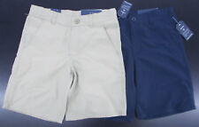 Boys Nautica $36 Uniform/Casual Khaki or Navy Wicking Shorts Size 8 - 20