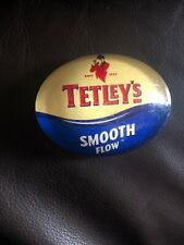 Tetleys Bitter Smoothflow Plastic Oval T Bar Pump Badge