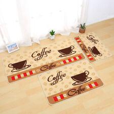 Soft Bedroom Kitchen Anti-slip Mat Coffee Cup Printing Small Rug Carpet Dream