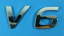 V6 Emblem Schriftzug 3D Chrom NEU passend für BMW VW OPEL AUDI FORD