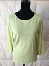 J. Jill Women's Apple Green Long Sleeve Top Size Large