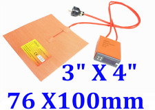 "3"" X 4"" 76 X100mm  25W Heater w/ Digital Controller JSRGO Wires at 3"" side"