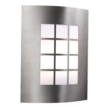 Searchlight Silver Stainless Steel Outdoor Garage Porch Wall Porch Bracket Light