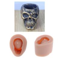 Silicone Skull Concrete Gypsum Plant Flower Pot Mold DIY Soap Candle Mould