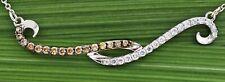 $2500 / NEW / Levian Vanilla & Chocolate diamond Swirl necklace / 14K Gold