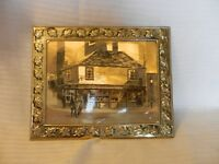 The Old Curiosity Shop Picture 1976 Dickens London England Gold Foil Framed