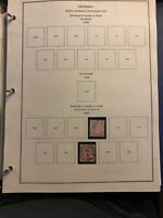 Early Germany Stamp Album Pages Accumulation 1869-1921