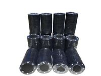 1000 x BLACK FULL WIDTH POKER ROULETTE CASINO CHIPS - SUITED DESIGNS TOKENS