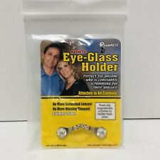 ReadeREST Magnetic Eyeglass Holder - Silver Crystal 01-SS Hidden magnetic Plate