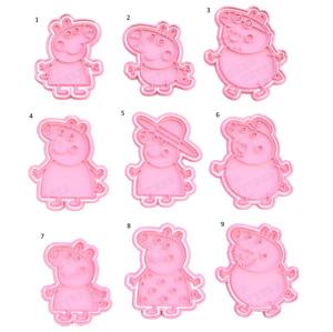 Peppa Pig Cookie Cutter & Embosser Fondant Cutter Set 1A
