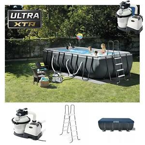 Intex Ultra XTR Frame Pool  549 x 274 x 132 cm  Sandfilter Leiter Swimmingpool