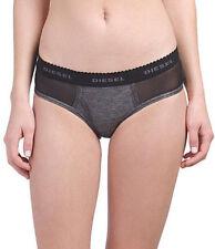 Diesel UW UFPN Logo Panties Gray Black Mesh Inserts Cotton Sz M Style#00SEX1