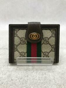 Gucci  Leather  Leather Brown Fashion Card case 1774 From Japan
