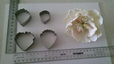BIG PEONY FLOWER CUTTER SET NEW 4 Pcs Metal Cutter $3 POSTAGE (Recomended)