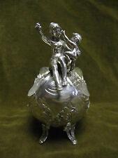 magnificent antique german silver (800) jardiniere / gravy boat rococo st 339g