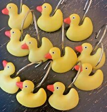 Rubber Duck Shower Curtain Hooks-11-Pre-owned