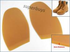 Caramel 11.3cm x 16.9cm Rubber Shoe Boot Pair Half Sole Glue Repair Anti Slip