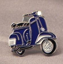 métal émail épinglette broche SCOOTER VESPA Moto Motard Cavalier Bleu