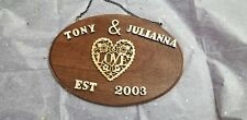 Amazing Handmade Christmas Gift Personalized Wedding Gift Wooden Name Sign