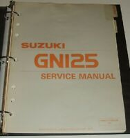 1982 1983 SUZUKI GN125 GN 125 Service Repair Shop Manual & Parts Guide