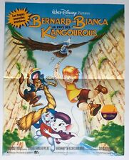 Affiche de cinéma de 1991, Dessin animé BERNARD & BIANCA Disney Poster 33x48