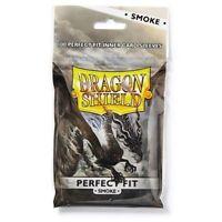 Dragon Shield Perfect Fit Smoke Card Protector Sleeve 100ct MTG Pokemon ATM13023