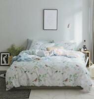 3D Bird Leaf ZHUA2500 Bed Pillowcases Quilt Duvet Cover Set Queen King Zoe