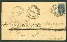 FINLAND 1903, 10kop (Russian) on cover to SOUTH AFRICA scarcer destination
