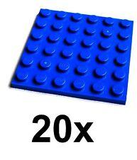 Lego 20 blaue 6x6 Platten (3958) Neu Bauplatten in blau Platte blue Plate Plates