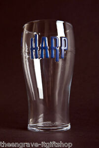 Harp Pint Glass -  Personalised Engraved Gift - Gift Boxed