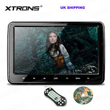 "UK 10.1"" Car Headrest DVD Player Monitor HDMI Touch Button Game FM IR TV USB SD"