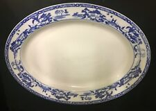 "Antique Japanese Noritake Blue Willow & White Royal Sometuke 14"" Serving Platter"