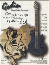 Godin LGX-SA electric/acoustic guitar 1996 ad 8 x 11 advertisement print