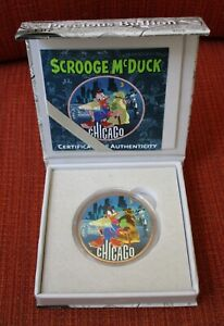 Niue 2018 Scrooge McDuck Chicago .999 Silver 1oz BU $2 Dollars Coin