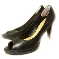 Worthington Black Women's Shoes Open Toe Pumps Heels Size 7 M Free Shipping