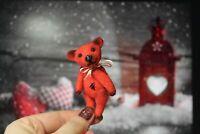 Felted mini bear, bear ooak toy, artist bear, collectible handmade toy - art toy