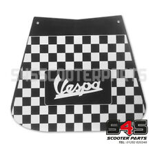 Mud Flap - Black & White Chequered For Scooter Vespa PX T5 125 200