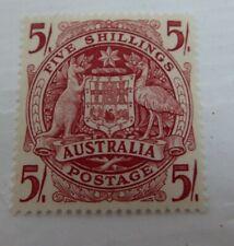 Antique Australia Five Shillings 5/- Stamp